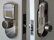 Agora você pode instalar uma fechadura biométrica em sua porta de correr