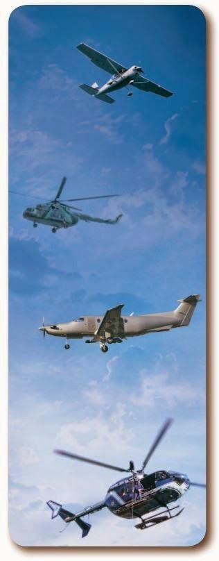 Самолеты и вертолеты в полете