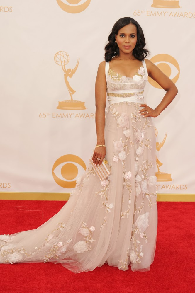 Emmy 2013 Awards Red Carpet Pictures Kerry Washington