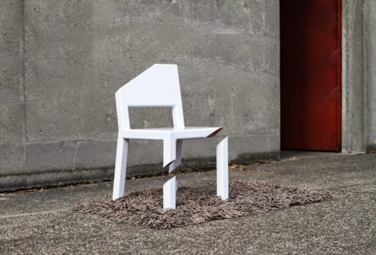 Illusion cut chair cool design, Cool furniture tricks, Optical illusions furniture for inspiration