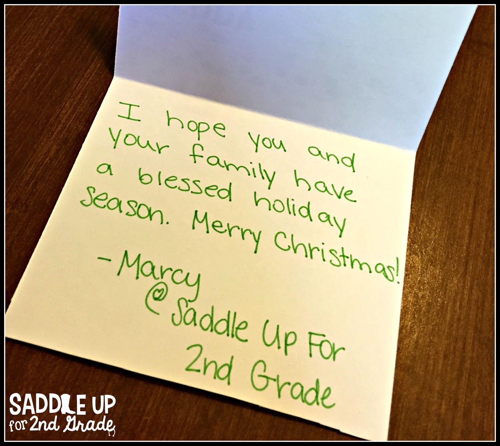christmas card note