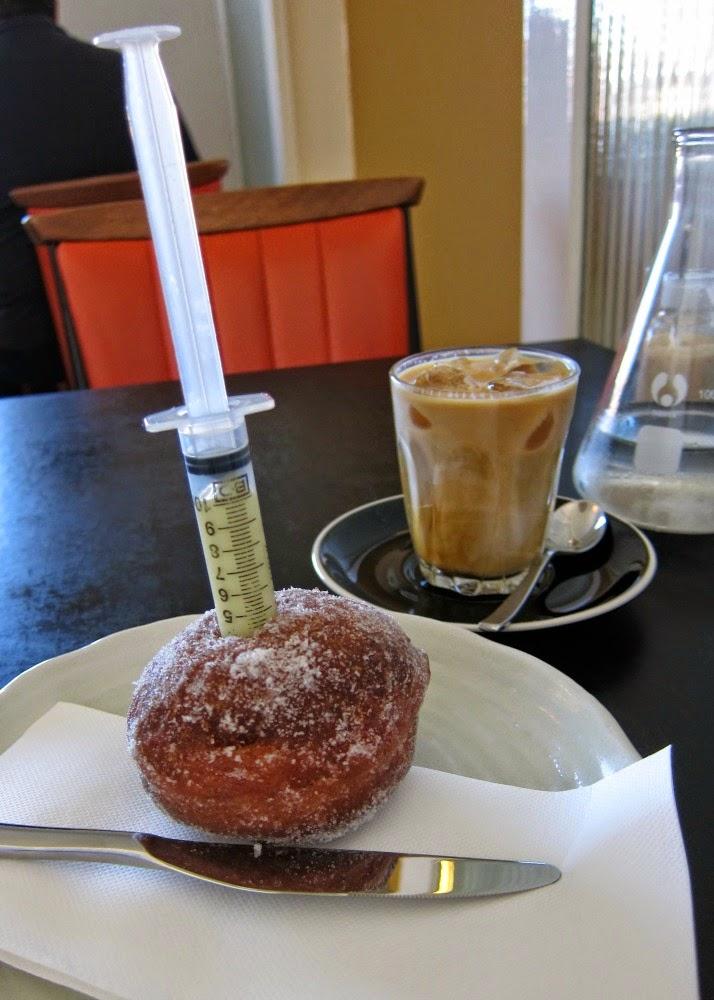 donut creme patisserie syringe