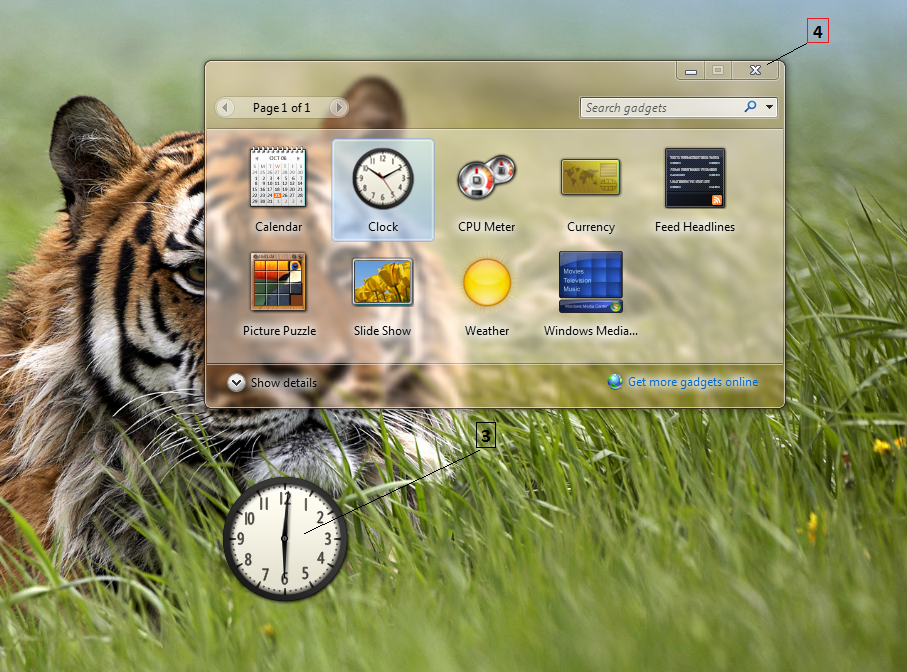Windows 7 tips and tricks add a gadget to the desktop
