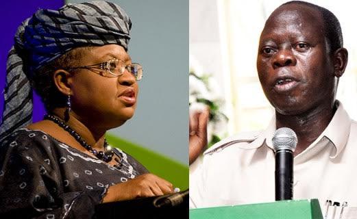 'Call reckless Governor Oshiomole to order' - Okonjo-Iweala tells Buhari