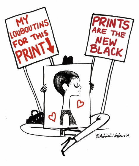 Prints are the new black by Adrian Valencia