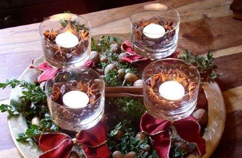 Gnomo sopralerighe centrotavola delle feste con i bicchieri - Centro tavola natalizio fai da te ...