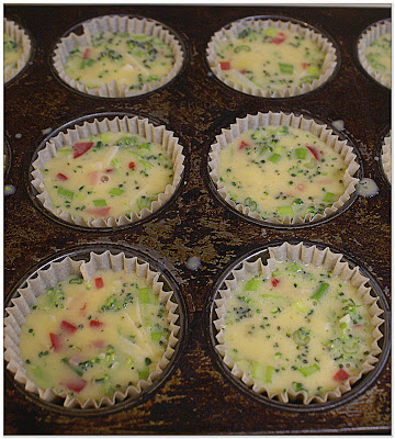 Mini quiches ready for baking