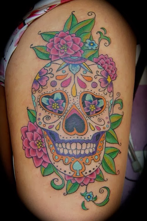 Gombal tattoo designs sugar skull tattoo meaning skull for Skull tattoos meaning