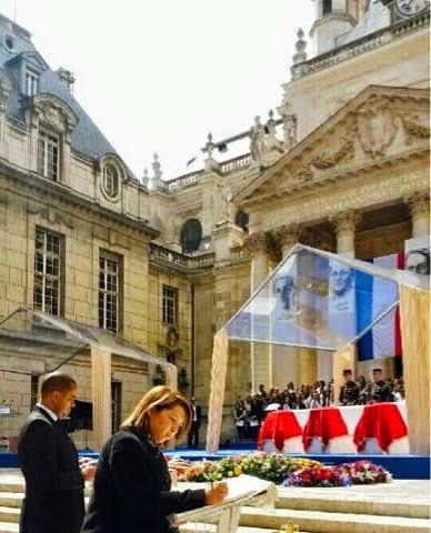 Hommage aux 4 héros de la Résistance faisant leur entrée au Panthéon. 27 mai 2015.