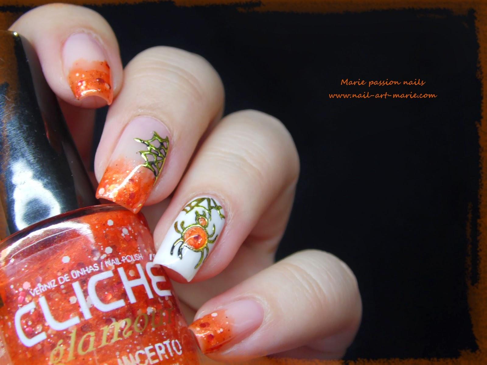 Marie Nail Art: Nail Art Halloween Chic