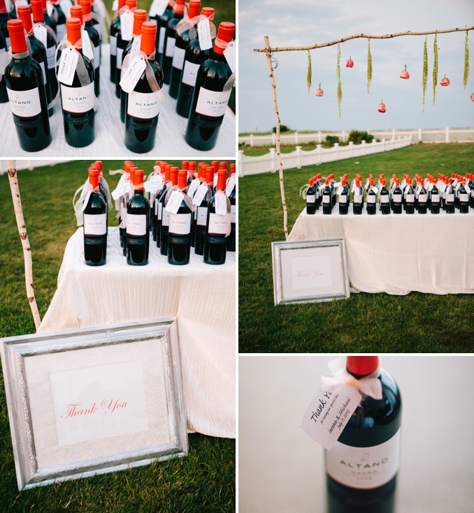 gorgeous cape cod wedding wine favors photos by STUDIO 1208