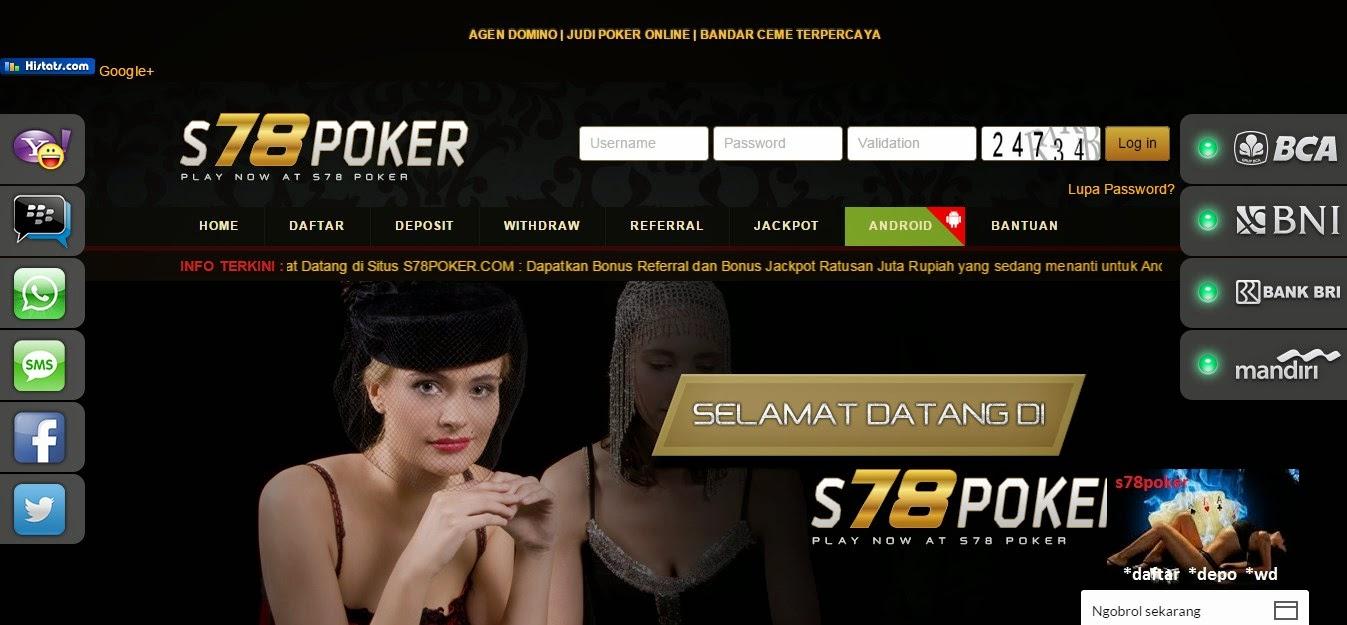 S78poker.com agen judi poker online tidak dengan robot
