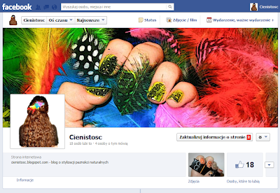 Cienistość na Facebook'u