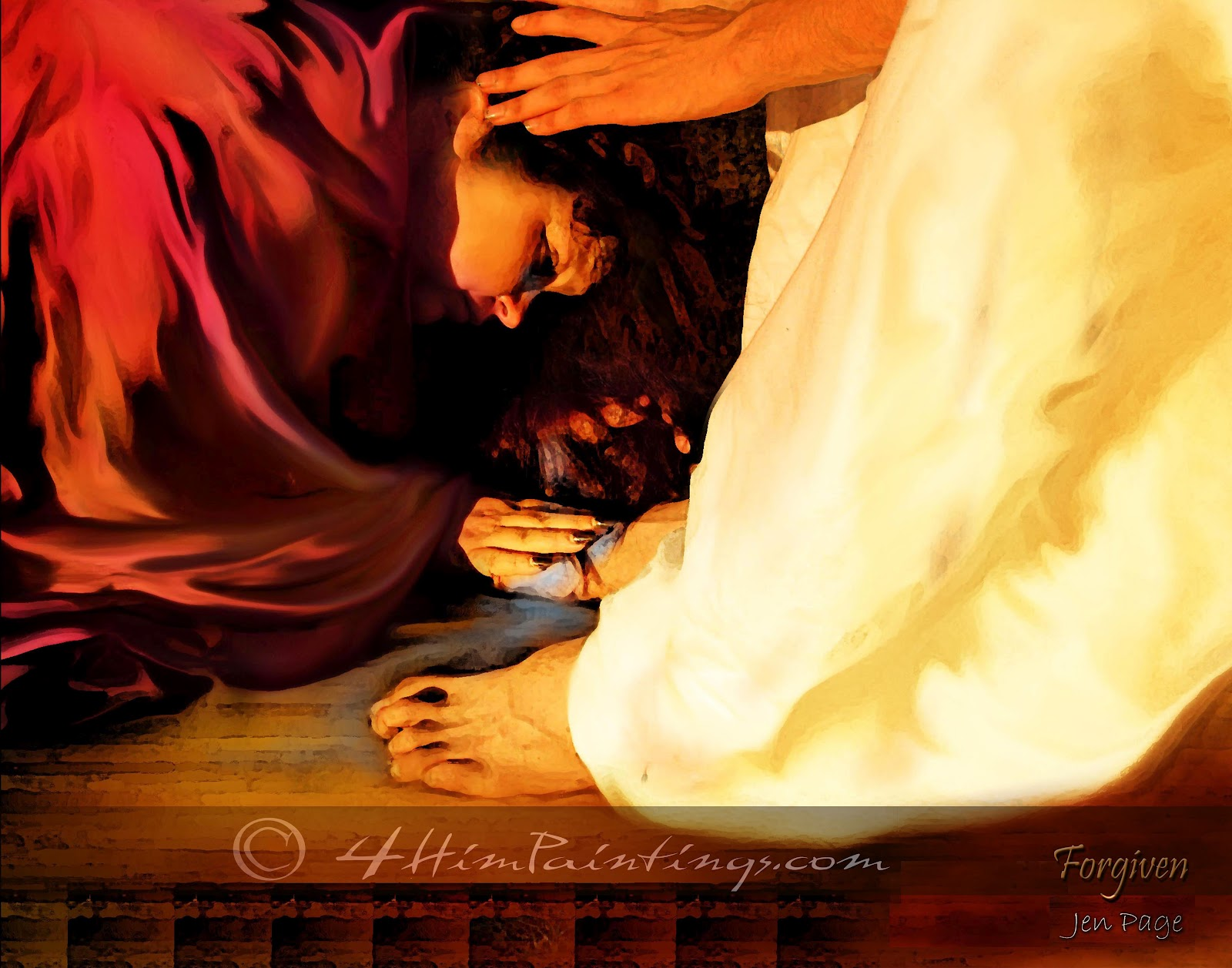Sinful woman forgiven by jesus christ - 2 5