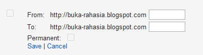 Redirect Halaman Blogger