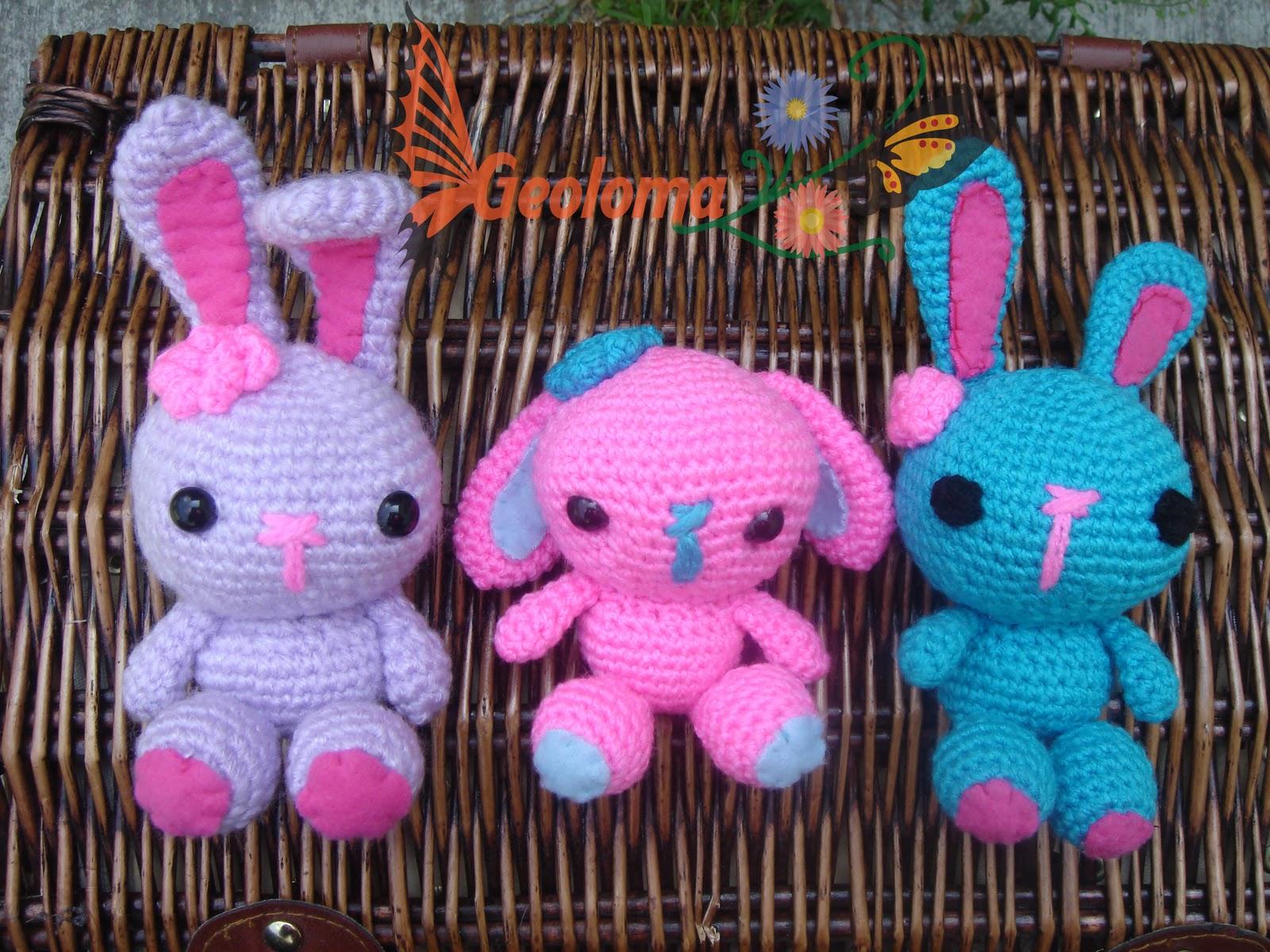 Estas conejitas han tenido mucho éxito, encontré el patrón ...