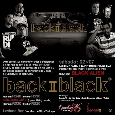 BACK II BLACK COM SHOW DE BLACK ALIEN E NIVER DO OPALAO 76