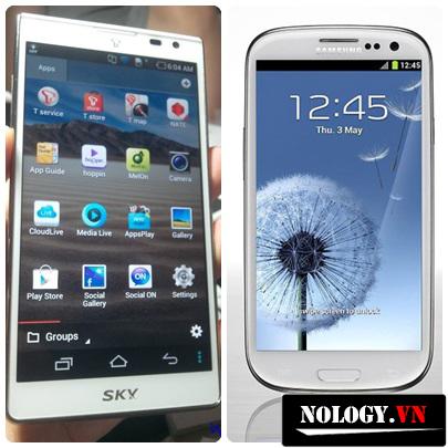 so sánh điện thoại sky a840sp và samsung galaxy s3
