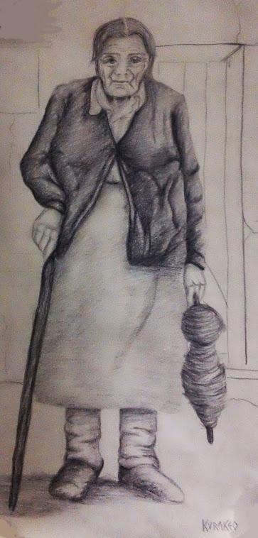 Dibujo de Claudia Curraqueo