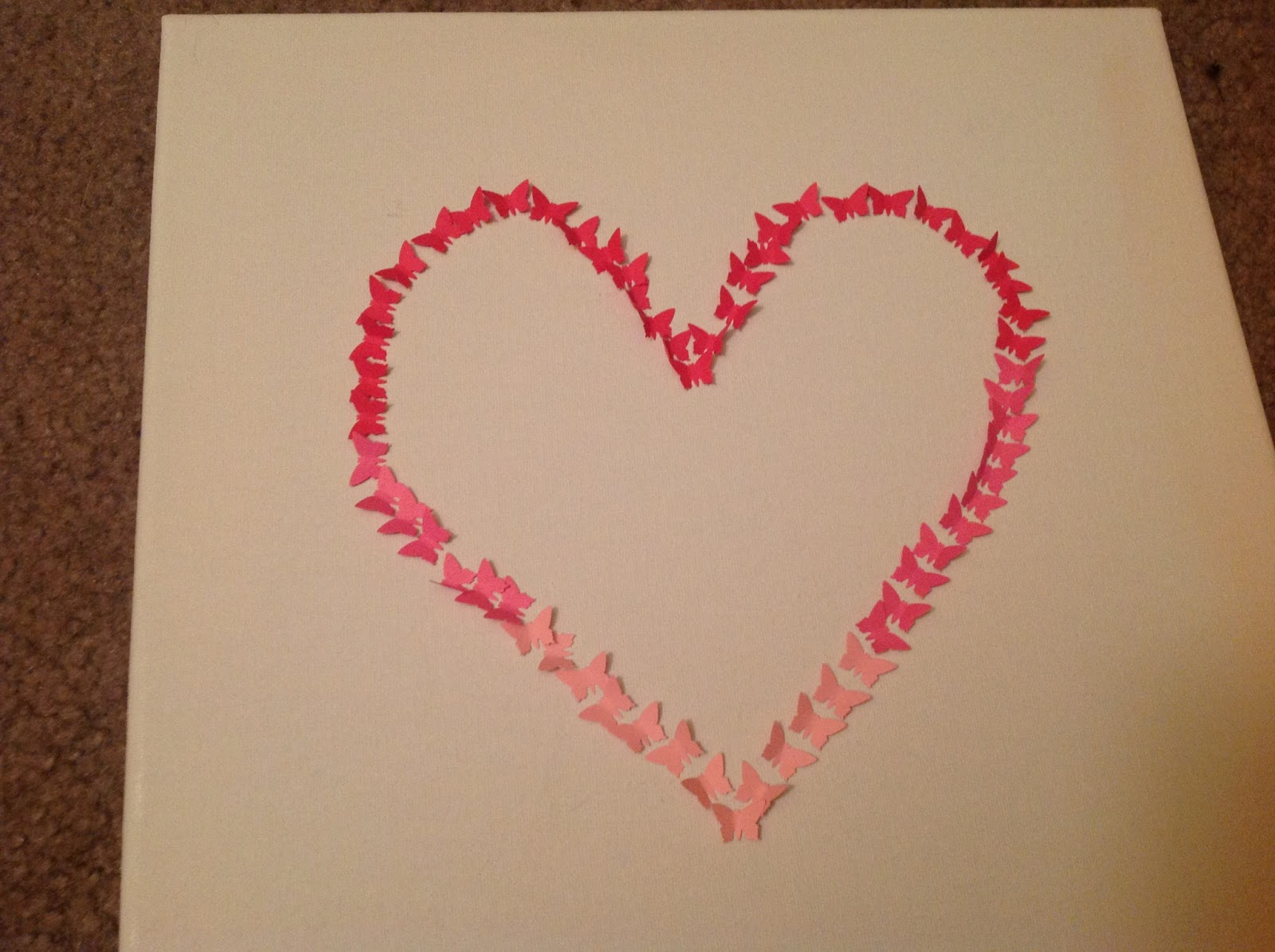 the oland girls craft butterfly ombre heart tutorial