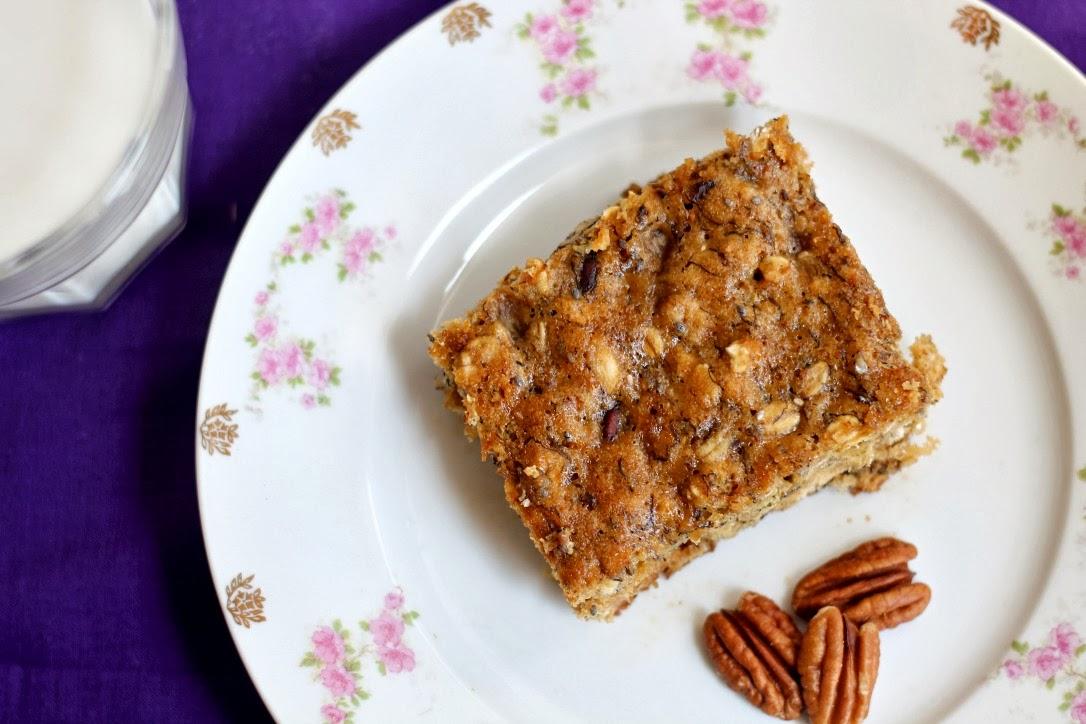 ... - Recipes. Reviews. Giveaways.: Banana Oatmeal Pecan Breakfast Bars