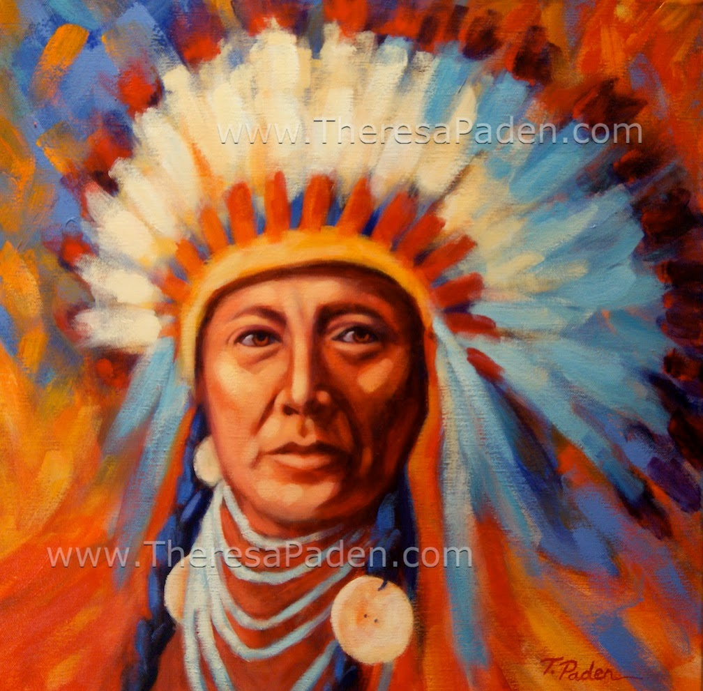 paintings by theresa paden native american indian chief