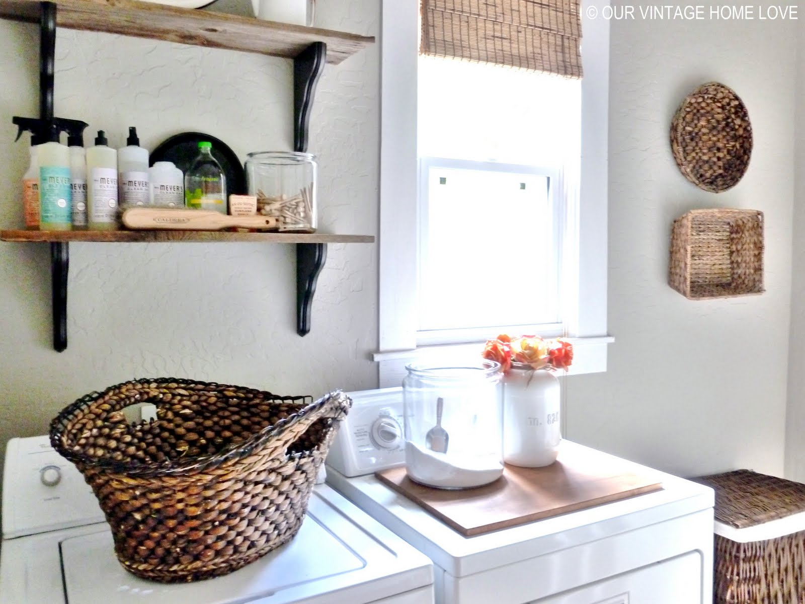 Our vintage home love laundry room ideas and a vintage - Decorating laundry room ideas ...