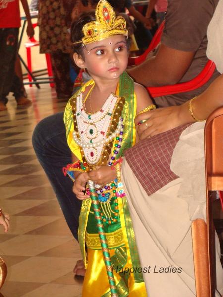 Bbay dressed in Lord Krishna Avatar