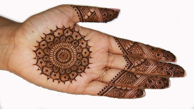 Traditional henna design