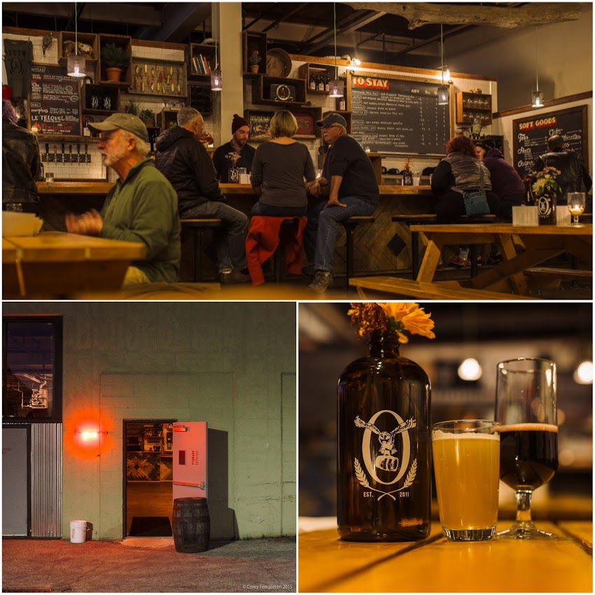 Portland, Maine USA November 2015 Photo by Corey Templeton at Oxbow Brewing Beer Bottling and Tasting Room off of Washington Avenue.
