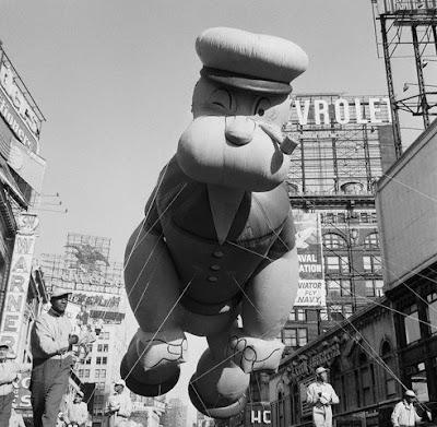 Macy's Parade 1959 Popeye