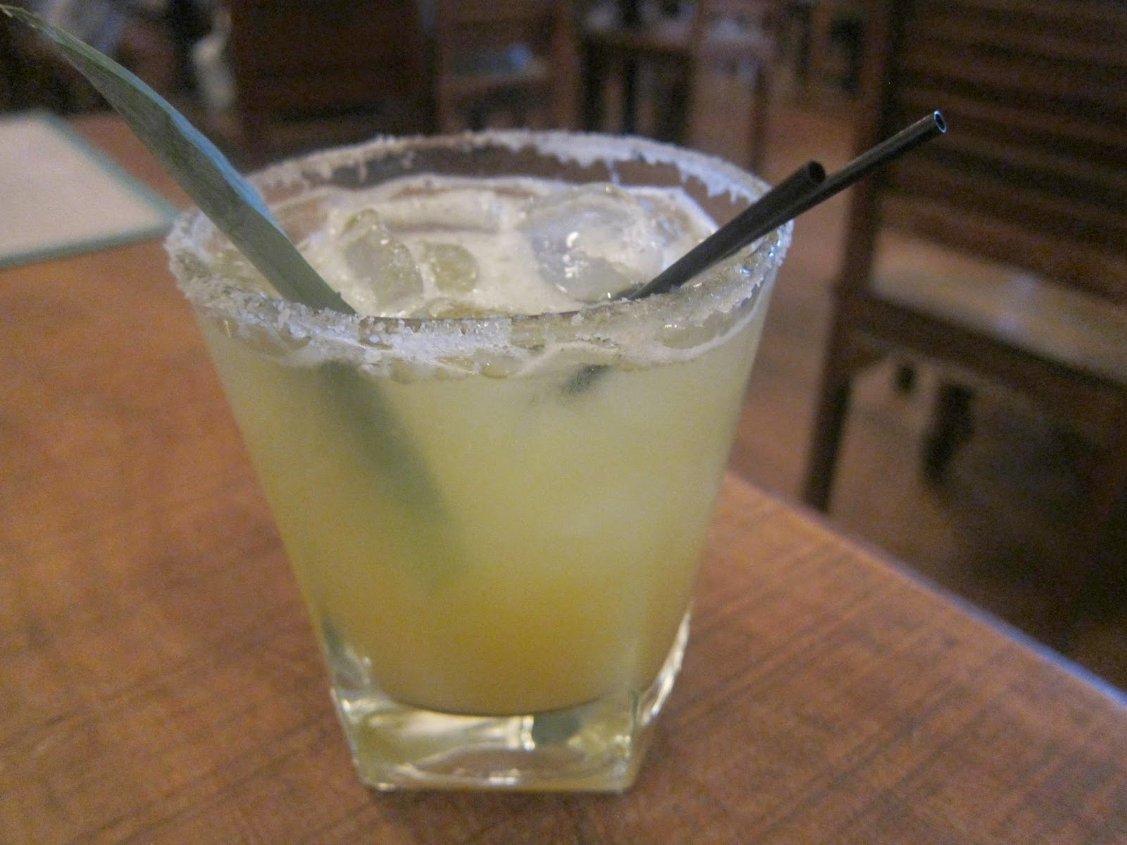Pineapple Habanero margarita from The Painted Burro | The Economical Eater