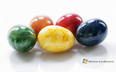 Windows 8 Eggs Background