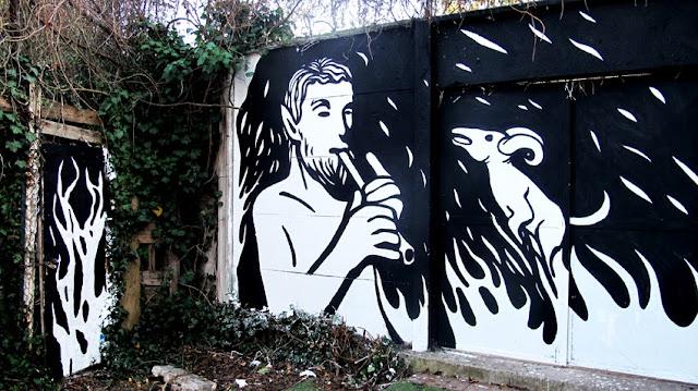 """Panismo"" New Street Art Piece By Italian Artist MP5 In Torino. 9"