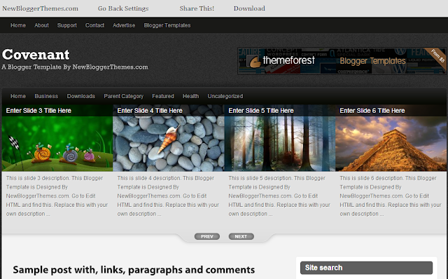 New Blogger Themes