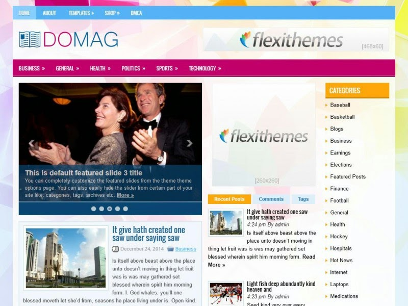 DoMag - Free Wordpress Theme