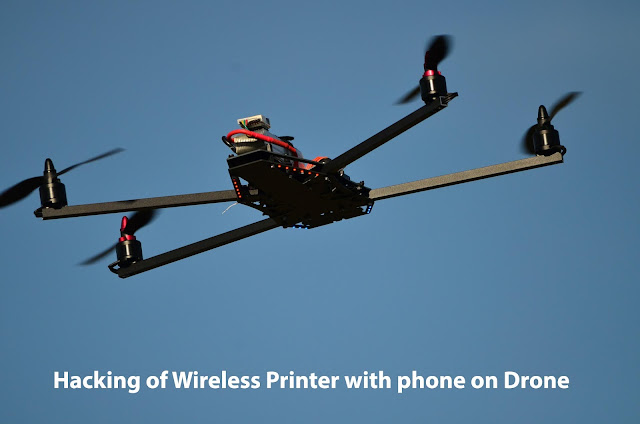 How Hacker can hack wireless printer with the help of phone on drone: Wireless Router Printer