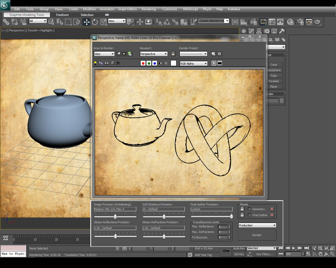 Line Drawing Render 3ds Max : Ds max materials creating sketch effects in tutorial