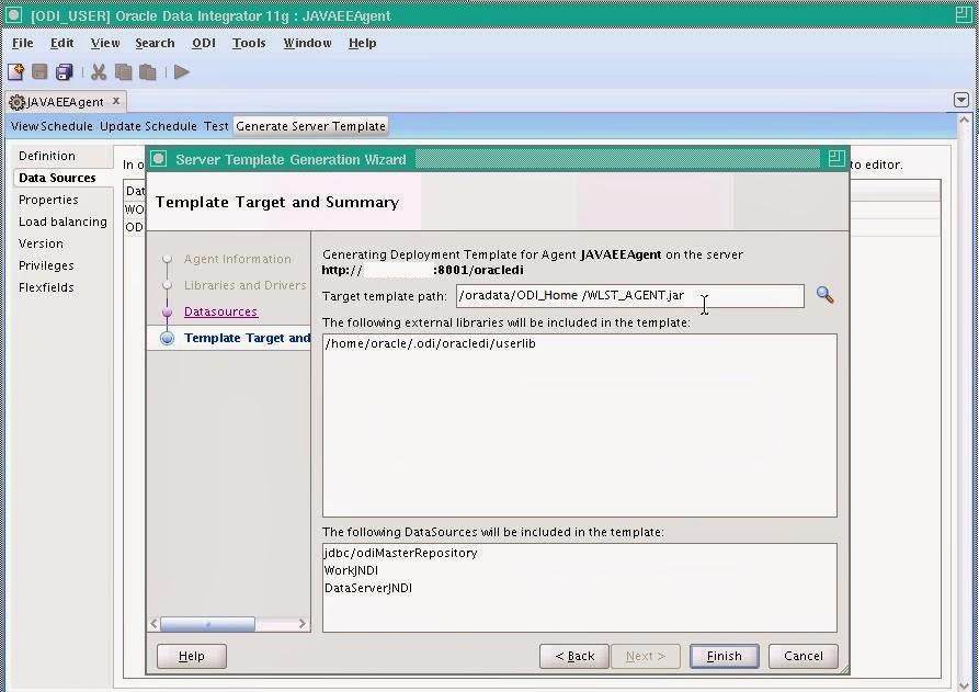 ODI Masters: Configuration of ODI Java EE agent.