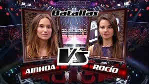 Ainhoa Aguilar y Rocío Rivas-Batallas La Voz