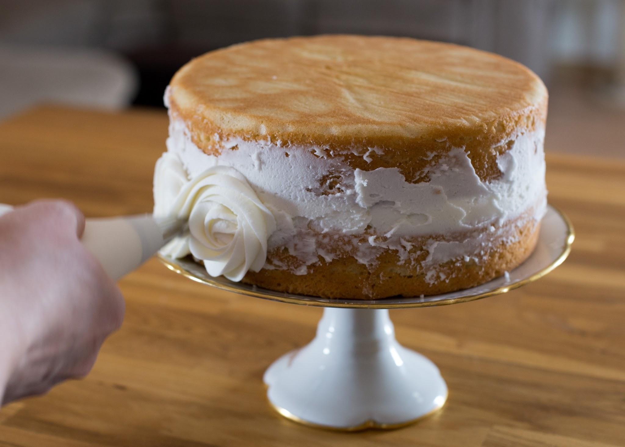 how to make a rose cake tutorial