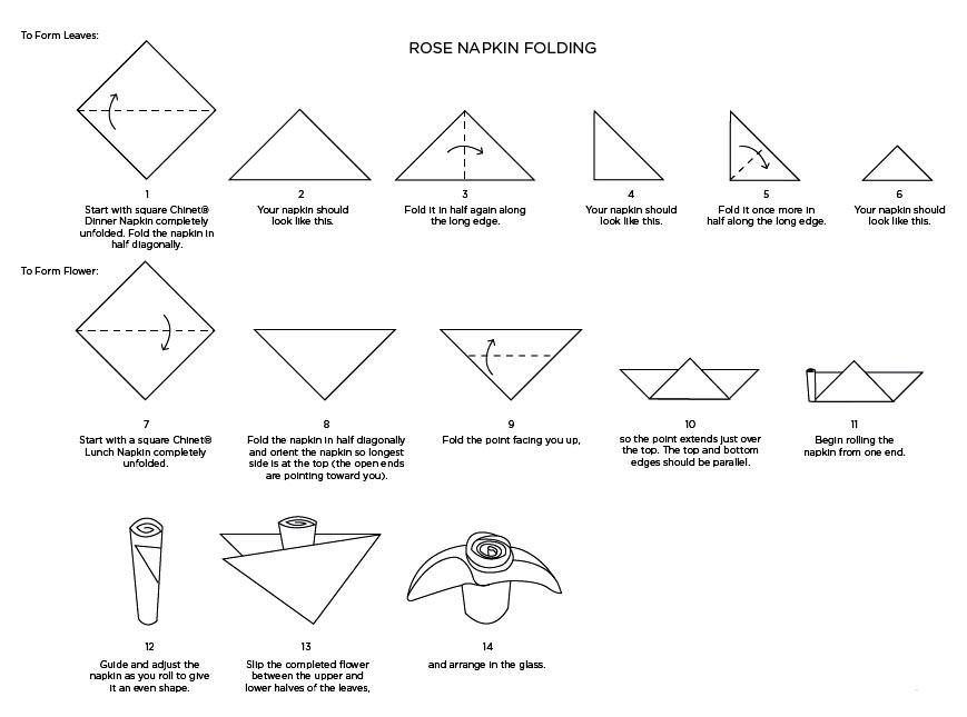 Lotus Leaf Napkin Folding : Paper Napkins Folding Instructions Paper Napkin Folding Charts