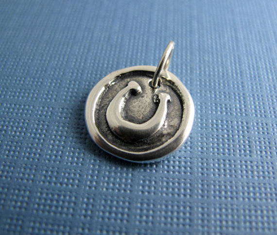 magic lucky ancient luck horseshoe charm sterling silver beth hemmila hint jewelry