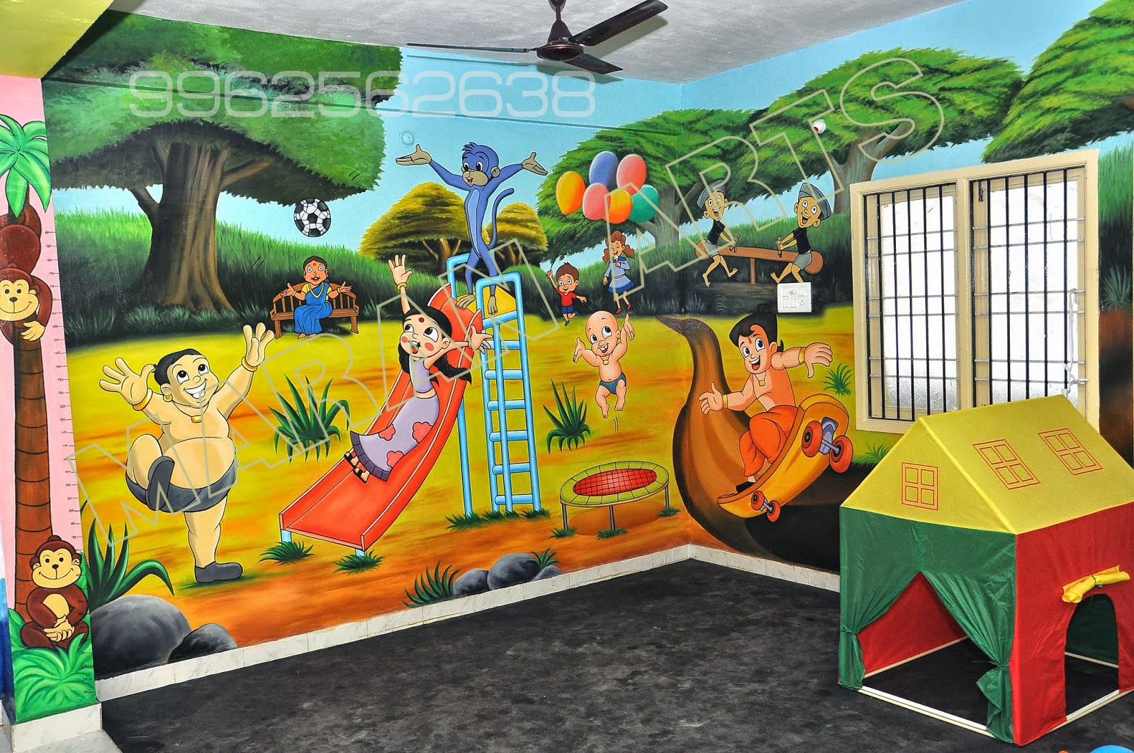 Kids Wall Painting U0026 Cartoon Wall Art For Play Schools In Chennai U0026 Tamil  Nadu) Maranarts
