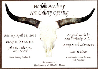 Invitation to Norfolk Academy Art Galley Opening