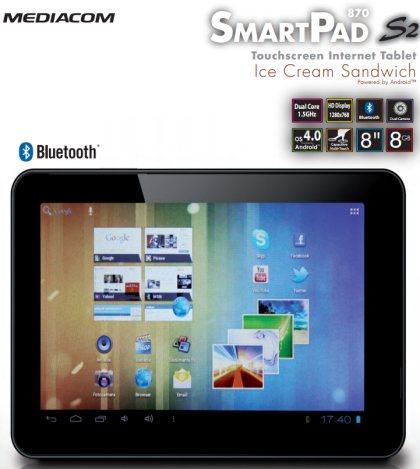 Smart Pad 870 S2 dual core in arrivo da Mediacom