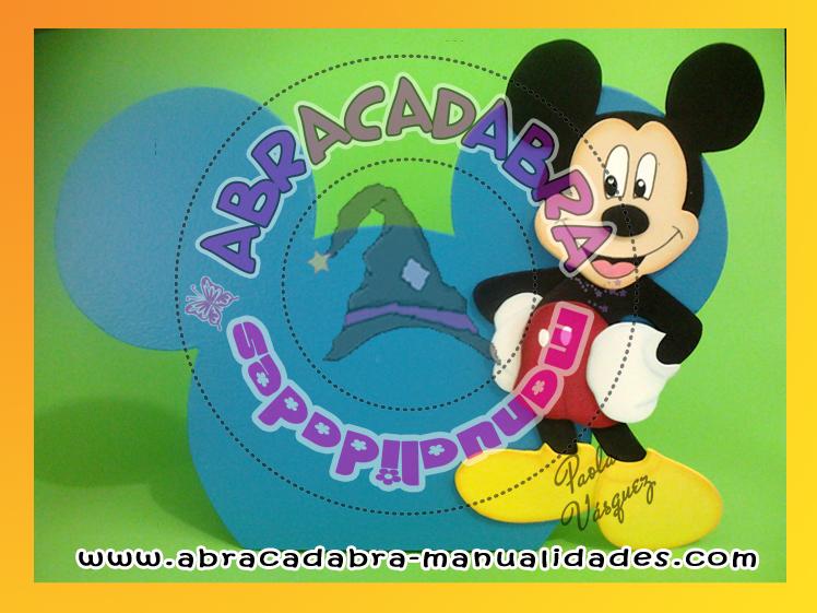 Cotillón de Minnie y Mickey en goma eva - Imagui