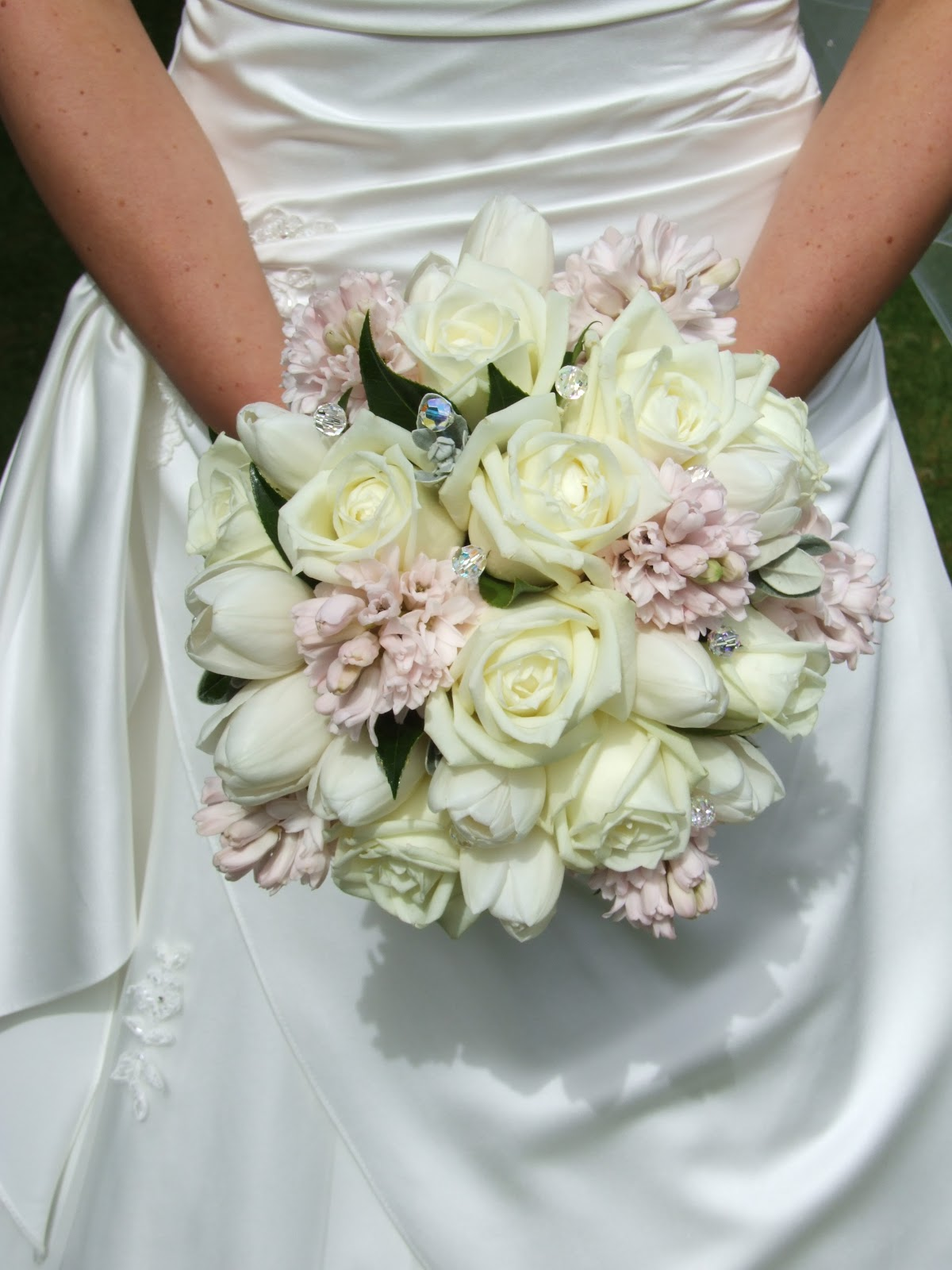 Crystal Flowers Spring Wedding Flower Bouquet Crystal Flowers