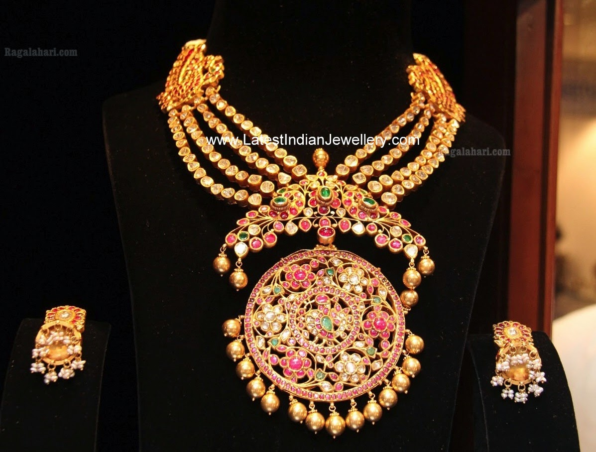 Heavy Rakodi Pendant Traditional Necklace