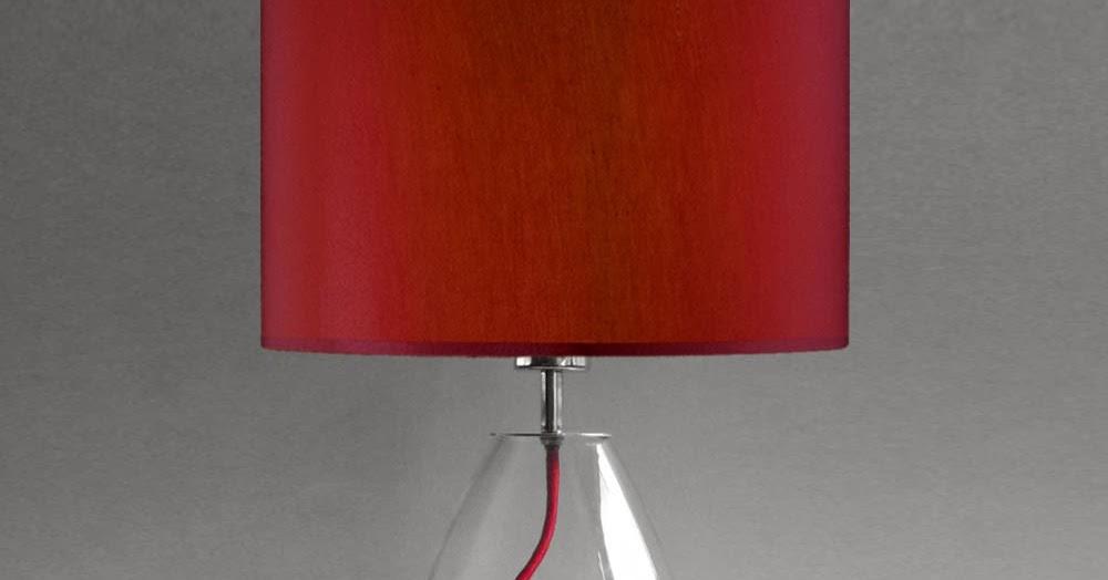 tischleuchten aus glas und kristall moderne rote tischleuchte aus glas hollow red. Black Bedroom Furniture Sets. Home Design Ideas